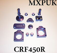 CRF450 2009 to 2017 MXPUK ANODIZED BLING KIT ALLOY PARTS PACK IN BLUE CRF (628)