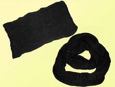 Tube Scarf Loop scarf Knitted Scarf Hose Norwegian Pattern black & white