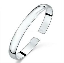 925 silver Smooth bangle fashion bracelet women's party Gift