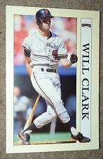 1991 Collectible Sport Art WILL CLARK Baseball Card NOTEPAD SAN FRANCISCO GIANTS
