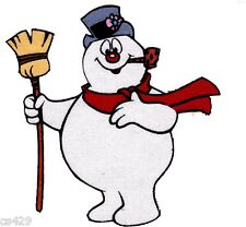 """3.5"""" FROSTY THE SNOWMAN CHRISTMAS HOLIDAY  CHARACTER FABRIC APPLIQUE IRON ON"""