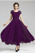 01 Purple women Lady Evening Formal Chiffon Party long maxi Dress plus Size 22