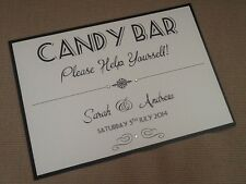 Handmade Personalised Vintage Candy Buffet Love is Sweet Treats Sign many colour