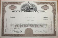 1970 Stock Certificate: 'Oakite Products, Incorporated'