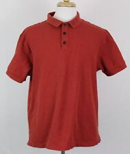 Patagonia Men's Polo Shirt Sz L Organic Cotton Orange Color Short Sleeve