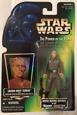 VINTAGE MINT Star Wars GRAND MOFF TARKIN POTF Green Card with Hologram Hasbro
