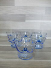6 X little blue advertising candle holder Spa Reine eau de source bleue