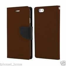 Genuine Goospery Brown Black Leather Wallet Flip Case For iPhone 6/6s Plus  5.5""