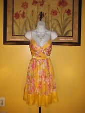 NWT Arden B. Floral Silk Dress Size S