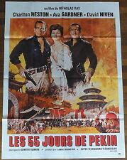 Affiche Cinéma LES 55 JOURS DE PEKIN. Cinema Movie Poster. Charlton HESTON.