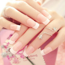 24 Manicure White Long French Style False Tips Fake Nails Stickers NEW HOT FO