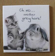 Dekofliese Decoupage Wandbild Bild Katze mit Spruch  (008DP) Geschenkidee