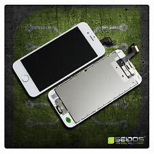 Premontado iPhone 6s LCD de sustitución en blanco-White con retina vidrio + homeButton