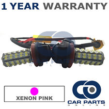 2X CANBUS PINK UPGRADE H9 60 SMD LED MAIN BEAM BULBS FOR CHRYSLER VOYAGER GRAND