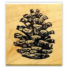 PINE CONE Large mounted rubber stamp #19