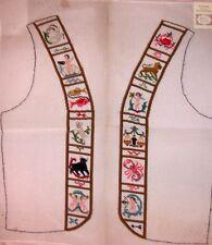 EP 8819 Zodiac Retro 60's Vest Front Vintage Preworked Needlepoint Canvas