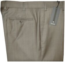 $325 NEW ZANELLA DEVON KHAKI TAUPE WEAVE SUPER 120'S WOOL DRESS PANTS 40