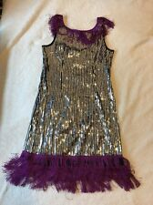 2b Bebe Sequin Costume/party Cocktail Dress Silver Size XS-S