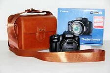 Brown leather case bag for Canon Powershot SX60 HS, SX50 HS, G1X MARK II camera