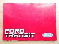 Ford transit MK3 owners handbook manual 1.6 2.0 3.0 V6 essence 2.5 diesel 11 pics
