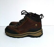 Timberland Backroad Hiking Boots Boys Youth 2 Brown Black Leather 22713m Shoes