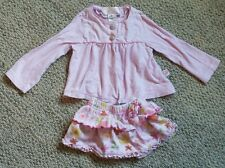 Baby Lulu pink sweater floral skirt set outfit infant baby girl size 18 months
