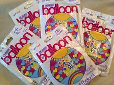 Get Well May Each New Day Bring Greater Health & Happiness Helium Balloons 5 Lot