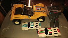 RARE VINTAGE RADIO SHACK RADIO CONTROLLED DUNE BUGGY WITH 2 EXTRA CARS AS-IS
