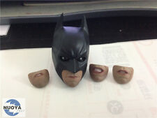 "1/6 scale Custom Head Sculpt Batman The Dark Knight Rolling Eyes For 12"" Body"