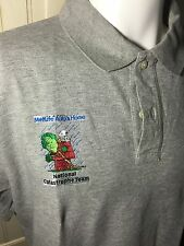 MetLife Auto & Home National Catastrophe Snoopy Polo Gray SS Shirt Size L
