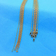 """Wholesale 5PCS 24"""" Jewelry 18K Gold Filled """"Water Wave"""" Chain Necklace Pendants"""