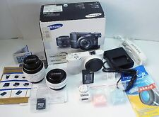 Kit! w/ NX 16mm & 20-50mm Lens! Samsung NX1000 20.3MP Digital Camera - White )