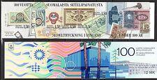 Finland - 1985 Banknote printing centenary - Mi. MH 15 MNH