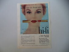 advertising Pubblicità 1957 ROSSETTO MAX FACTOR