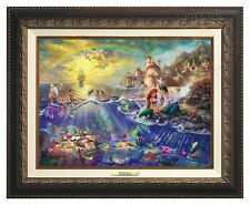Thomas Kinkade -Disney's Little Mermaid – Canvas Classic (Aged Frame)