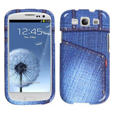 For Samsung Galaxy S III 3 HARD Protector Case Snap Phone Cover Blue Jeans