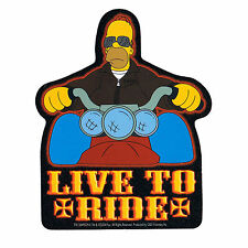 STICKER - The Simpsons Live To Ride Biker Homer Decal  SB07