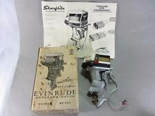 "Vintage Evinrude ""Starflite"" Miniature Outboard Boat Motor in Box Runs Nice"