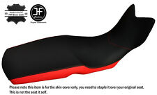 BLACK & RED CUSTOM FITS BMW F 800 GSA F 700 GS 12-17 DUAL LEATHER LOW SEAT COVER