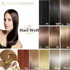 India Remy Hair Extension Weft DOUBLE DRAWN 50g Brown/blonde/black