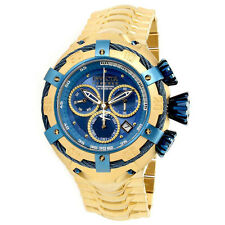 Invicta Reserve Thunderbolt Gold Stainless Steel Bracelet Watch 21347 Blue Face