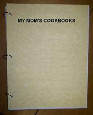 Turkey:Breast, Legs,Thighs,Cutlets,etc.-My Mom's Cookbook,loose leaf, ring bound