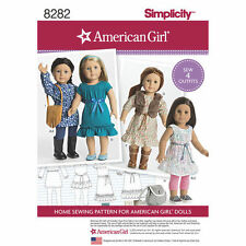 """18-inch Doll """" American Girl """" Variety Dress Sewing Pattern # 8282"""