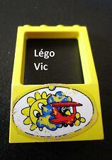 Lego Fabuland 4608 Fenêtre Window 2x4x5 Jaune Yellow +Sticker du 3671 airport
