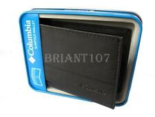 NIB Authentic Mens Columbia Slimfold Wallet 31CP1300 Black + Gift Box