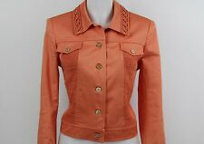 St. John Sport Button Front Jacket Coat Coral Size Small