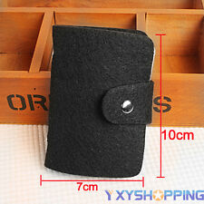 Business Travel ID Credit Card Wallet Holder Pocket Cover Case Small Felt Purses