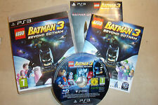 SONY PLAYSTATION 3 jeu lego batman 3 beyond gotham + box + instructions complètes