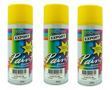 3 x Australian Export Spray Paint Cans 250gm Yellow 100% Brand New