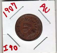 1907 INDIAN HEAD CENT in ABOUT UNCIRCULATED condition :  stk  I 90